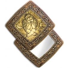 """Зеркало квадратное """"Ангел"""" (береста, тиснение, дерево)"""