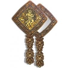 Зеркало квадратное с ручкой Ангел с луком