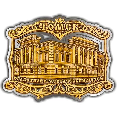 Магнит из бересты вырезной Томский Областной краеведческий музей серебро