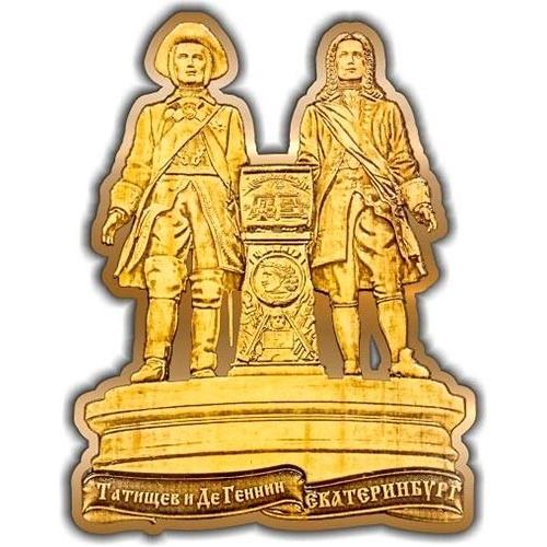 Магнит из бересты вырезной Екатеринбург Основатели города золото