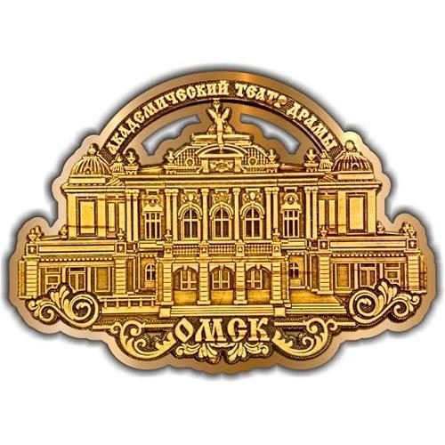 Магнит из бересты вырезной Омск Театр драмы золото