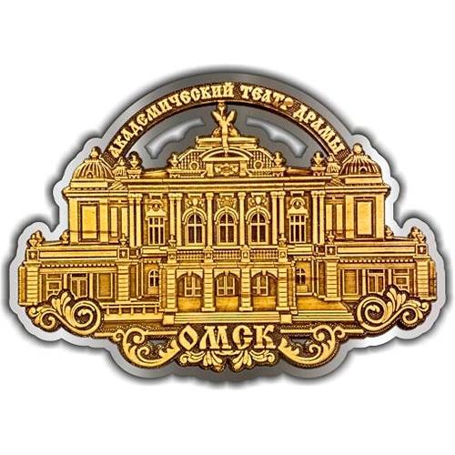 Магнит из бересты вырезной Омск Театр драмы серебро