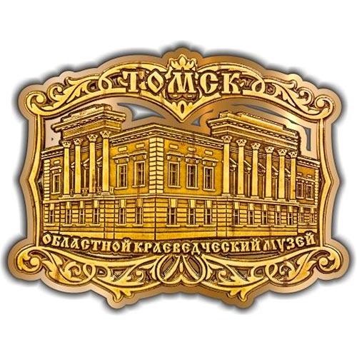 Магнит из бересты вырезной Томский Областной краеведческий музей золото
