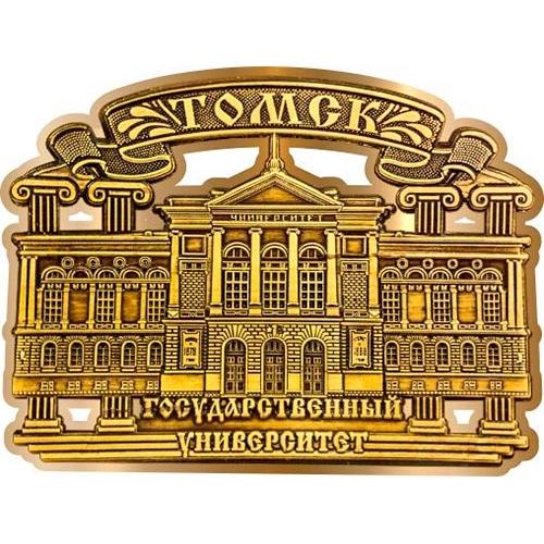Магнит из бересты вырезной Томский Государственный университет Лента золото