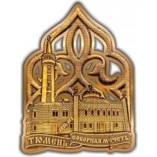 Магнит из бересты вырезной Тюмень Соборная мечень золото