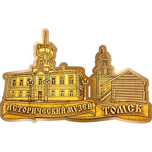 Магнит из бересты вырезной Томск Исторический музей золото