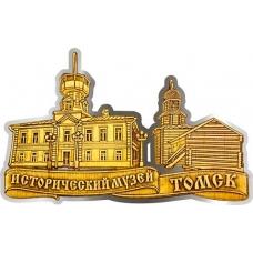 Магнит из бересты вырезной Томск Исторический музей серебро