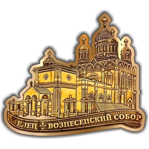 Магнит из бересты вырезной Елец Вознесенский собор золото