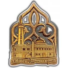 Магнит из бересты вырезной Тюмень Соборная мечеть серебро