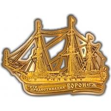 Магнит из бересты вырезной Воронеж Гото Предестинация золото
