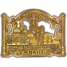 Магнит из бересты вырезной Казань Раифский монастырь золото
