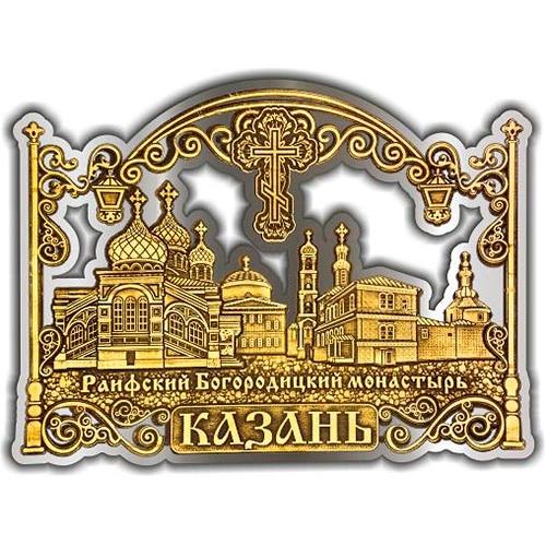 Магнит из бересты вырезной Казань Раифский монастырь серебро