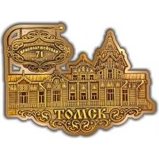 Магнит из бересты вырезной Томск Красноармейская, 71 золото