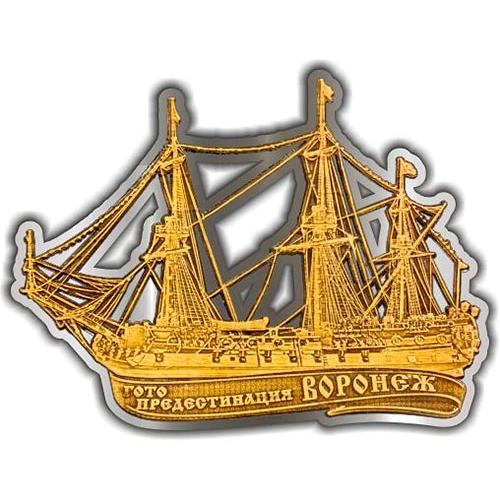 Магнит из бересты вырезной Воронеж Гото Предестинация серебро