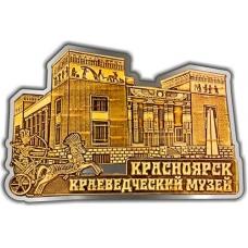 Магнит из бересты вырезной Красноярск Краеведческий музей серебро
