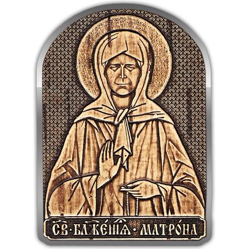 Магнит-Иконка -Матрона Московская серебро А-22923