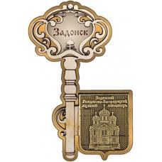 Магнит из бересты Задонск Рождество-Богородицкий монастырь Ключ золото