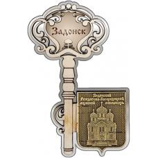 Магнит из бересты Задонск Рождество-Богородицкий монастырь Ключ серебро