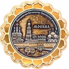 Магнит из бересты Москва Новодевичий монастырь круг