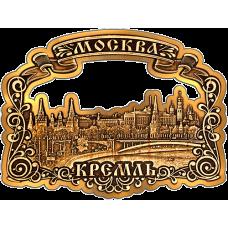 """Магнит из бересты Москва """"Кремль Панорама"""" (Золото) В-9806"""