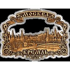 """Магнит из бересты Москва """"Кремль Панорама"""" (Серебро) В-9807"""