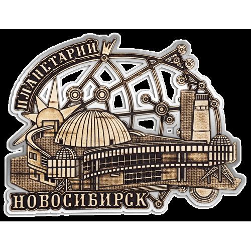 """Магнит из бересты вырезной Новосибирск """"Планетарий"""" (Cеребро) В-22318"""