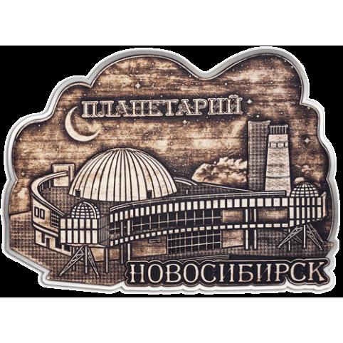 """Магнит из бересты вырезной Новосибирск """"Планетарий"""" (Cеребро) В-22316"""