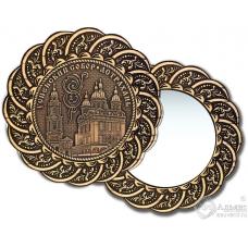 Зеркало из бересты Вернисаж без ручки Астрахань-Успенский собор