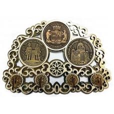 Ключница с тремя накладками из бересты Екатеринбург-Коллаж