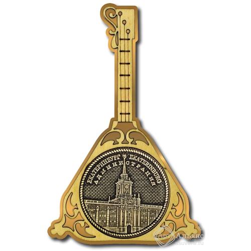 Магнит из бересты Екатеринбург Администрация круг Балалайка золото