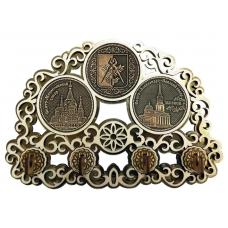 Ключница с тремя накладками из бересты Ижевск-Коллаж