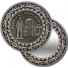 Зеркальце из бересты с берестяной накладкой Ижевск-Музей им М. Т. Калашникова
