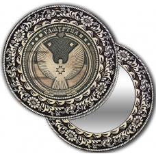 Зеркальце из бересты с берестяной накладкой Удмуртия