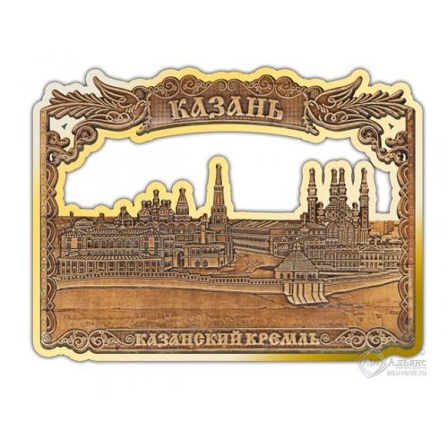 Магнит из бересты вырезной Казань-Казанский кремль золото В-26402