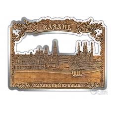 Магнит из бересты вырезной Казань-Казанский кремль серебро В-26403