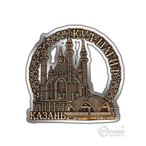 Магнит из бересты вырезной Казань-Кул-Шариф серебро В-26397