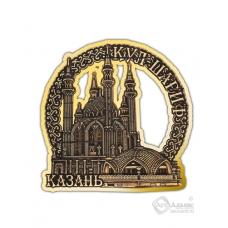 Магнит из бересты вырезной Казань-Кул-Шариф золото В-26396