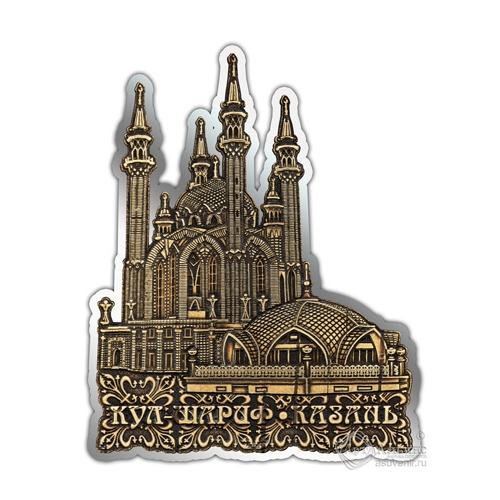 Магнит из бересты вырезной Казань-Кул-Шариф серебро В-26399