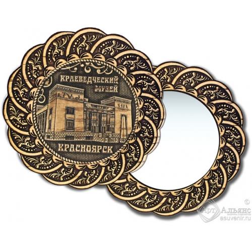 Зеркало из бересты Вернисаж без ручки Красноярск-Краеведческий музей