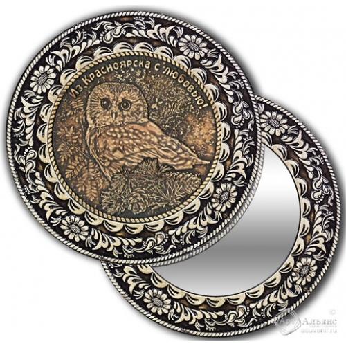 Зеркало круглое без ручки Красноярск-Сова