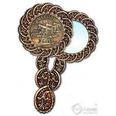 Зеркало из бересты Вернисаж с ручкой Мегион-Качалка
