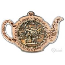 Магнит из бересты Мегион-Качалка чайник серебро