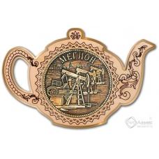 Магнит из бересты Мегион-Качалка чайник золото