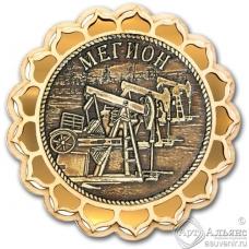 Магнит из бересты Мегион-Качалка купола золото