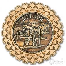 Магнит из бересты Мегион-Качалка снежинка золото