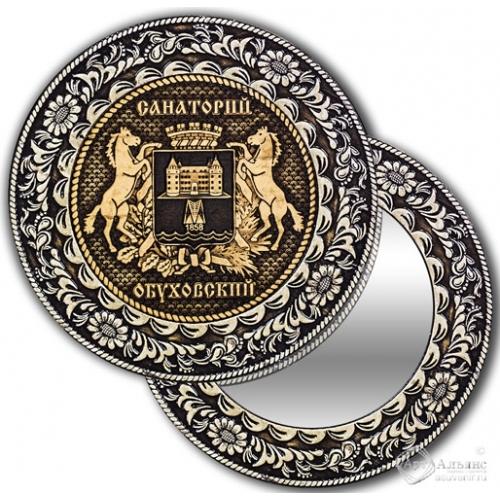 Зеркало круглое без ручки Обуховское-Герб