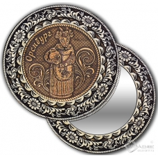 Зеркало круглое без ручки Оренбург-Коза