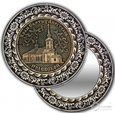 Зеркало круглое без ручки Полевской-Храм Святых Апостолов