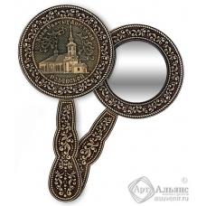 Зеркало круглое с ручкой Полевской-Храм Святых Апостолов