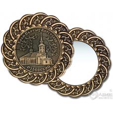 Зеркало из бересты Вернисаж без ручки Полевской-Храм Святых Апостолов